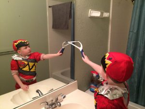Forget the paper towels and enlist your kids helps with easy tip for cleaning mirrors
