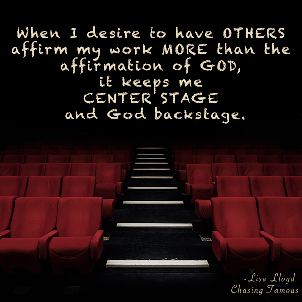 Everyday we fight for the spotlight but center stage is reserved for one: God. Chasing Famous helps use your talents to point to the Famous One.